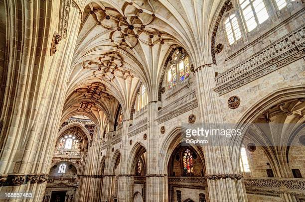 Interior of the New Salamanca Cathedral, Spain