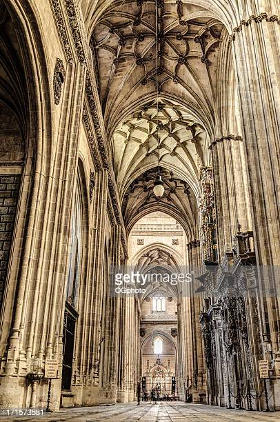 interior of the new salamanca cathedral, spain - ogphoto stock pictures, royalty-free photos & images