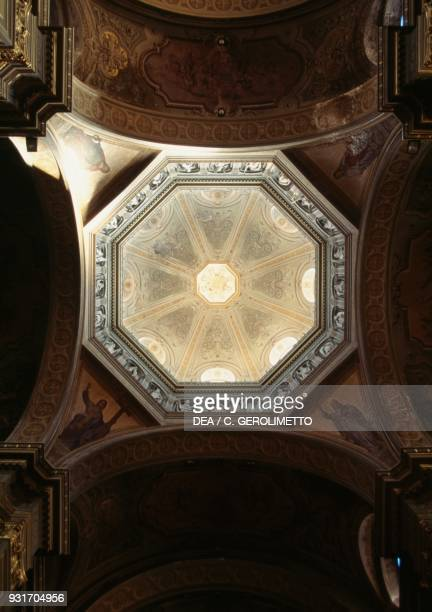 Interior of the octagonal dome 18751879 by Emilio Arboreo Vella Alessandria cathedral Piedmont Italy 19th century