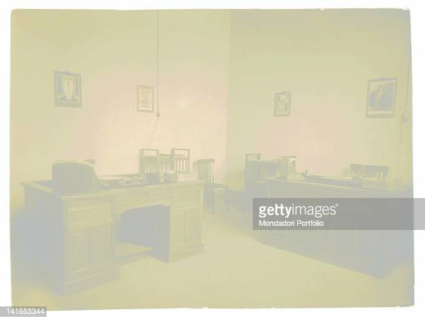 Interior of the offices of the Mondadori publishing company in Naples Naples 1920s