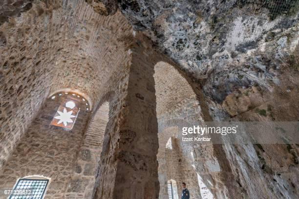 Interior of the old St Peter's rock church, Antakya, Hatay southeastern Turkey