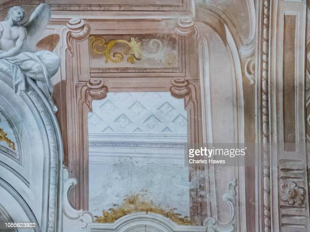interior of the oratory of saint peter (san pietro) - the oldest religious building in porto maurizio;image taken within  porto maurizio, imperia, on the coast of liguria in northern italy. september - san stock pictures, royalty-free photos & images
