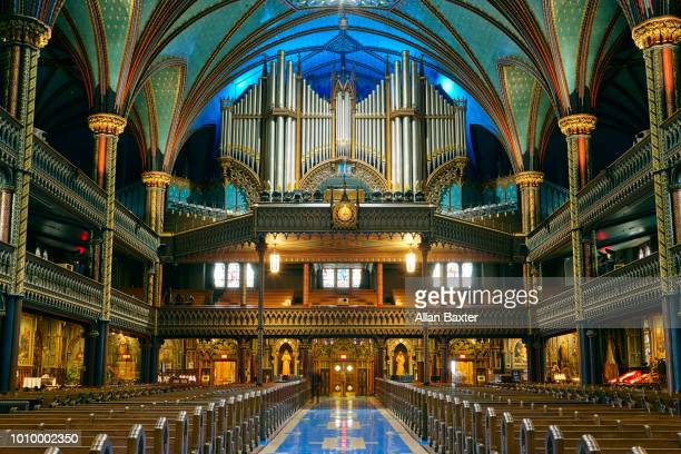 Interior of the ornate 'Notre dame de Montreal' in Montreal