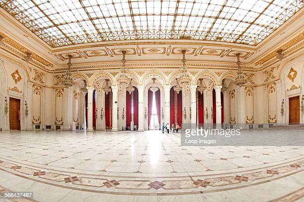 Interior of the Palace of the Parliament in Bucharest which is the capital of Romania