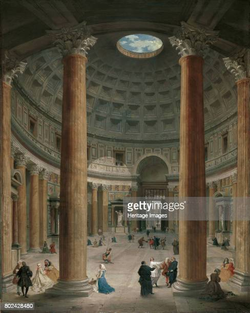 Interior of the Pantheon Rome 1735 Found in the collection of Liechtenstein Museum