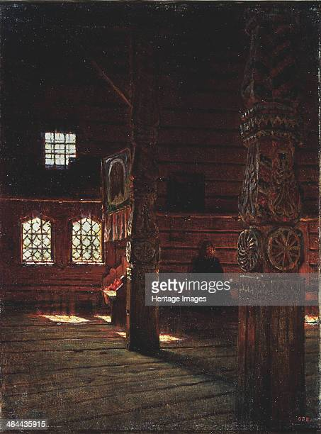 Interior of the Peter and Paul Church in Puchug 1894 Found in the collection of the State Russian Museum St Petersburg