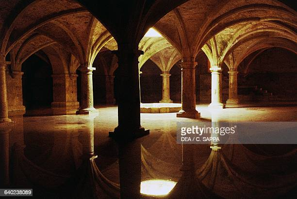 Interior of the Portuguese cistern El Jadida Morocco 16th century