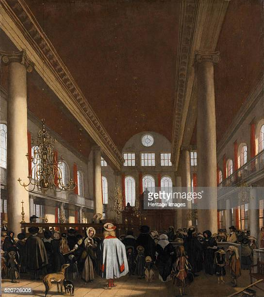 Interior of the Portuguese Synagogue in Amsterdam Found in the collection of Rijksmuseum Amsterdam