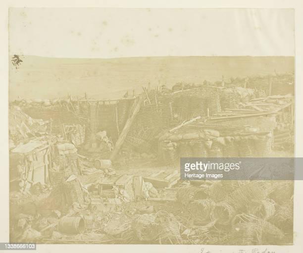 Interior of the Redan, 1855. Scene from the Crimean War. Albumen print. Artist James Robertson.