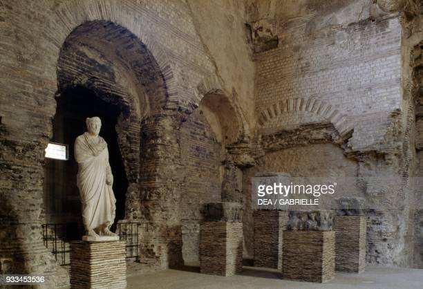 Interior of the Roman baths in the Cluny museum Paris IledeFrance France