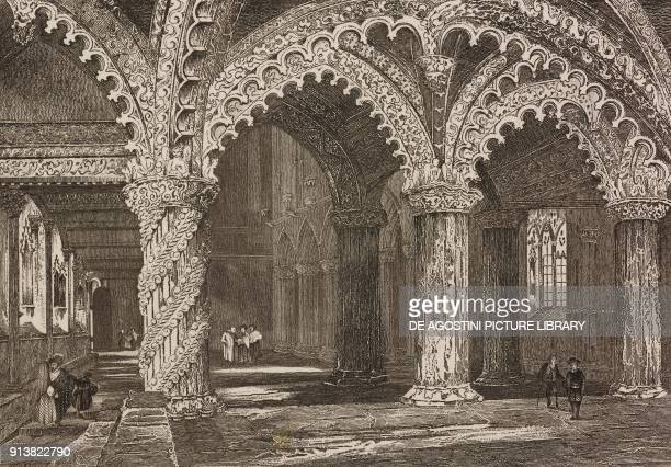 Interior of the Rosslyn Chapel Scotland United Kingdom engraving by Schroeder from Angleterre Ecosse et Irlande Volume IV by Leon Galibert and...