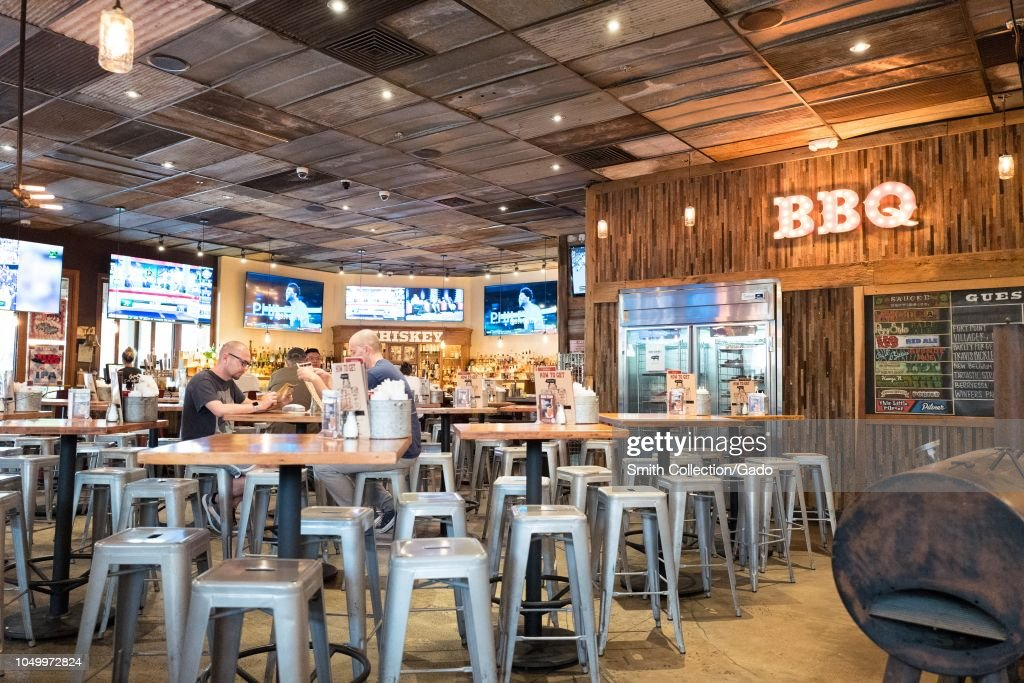 Interior of the Sauced barbecue restaurant in Livermore ...