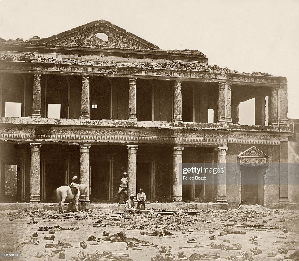Interior of the Secundra after Sir Colin Campbell`s relief of Lucknow when 2000 rebel sepoys were slaughtered by the 93rd Highlanders and the 4th...