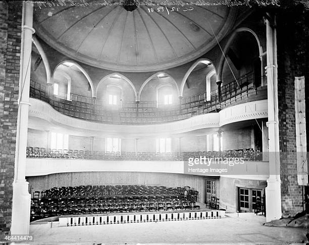 Interior of the Shakespeare Memorial Theatre Stratford upon Avon Warwickshire c1860c1922 showing the semicircular auditorium from the stage This...