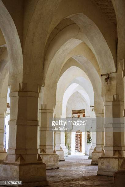 interior of the sixty dome mosque - khulna stock photos and pictures