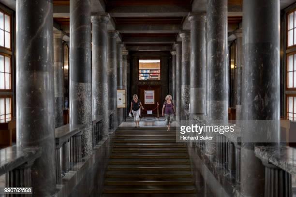 Interior of the Slovenian National and University Library in the Slovenian capital Ljubljana on 27th June 2018 in Ljubljana Slovenia