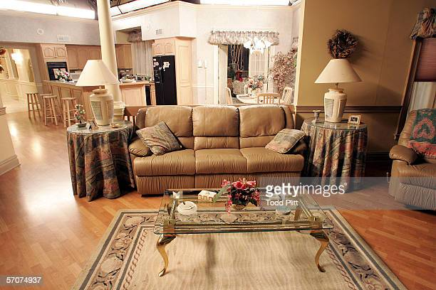 Interior of the Soprano house dining room leading into the kitchen of the Sopranos house is part of the set decoration of the HBO's hit series at the...