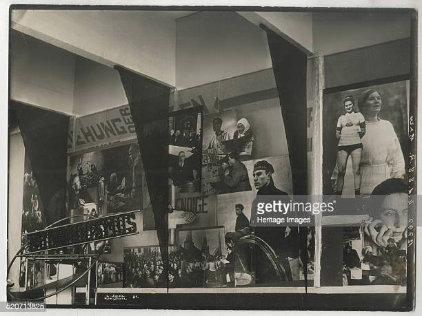 Interior of the Soviet pavilion at the International Press Exhibition Cologne Found in the collection of Russian State Archive of Literature and Art...