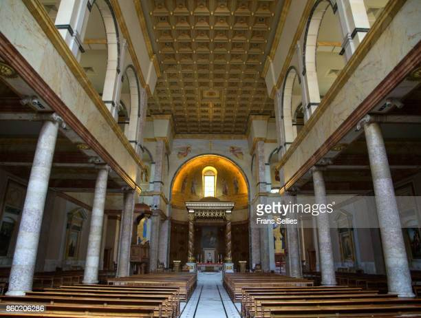 interior of the st. george maronite cathedral, beirut, lebanon - cathedral stock pictures, royalty-free photos & images