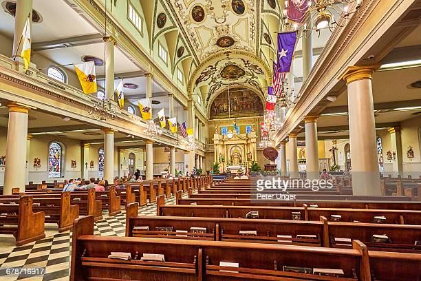 Interior of the St Louis Cathedral,New Orleans