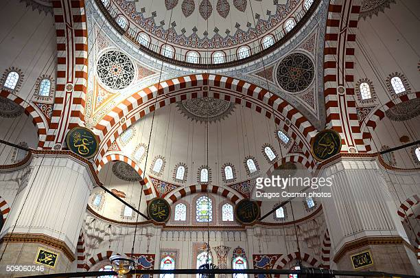 Interior of the Suleymaniye Mosque in Istanbul