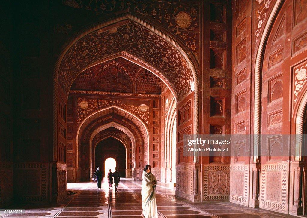 Interior Of The Taj Mahal Mosque : Stock Photo