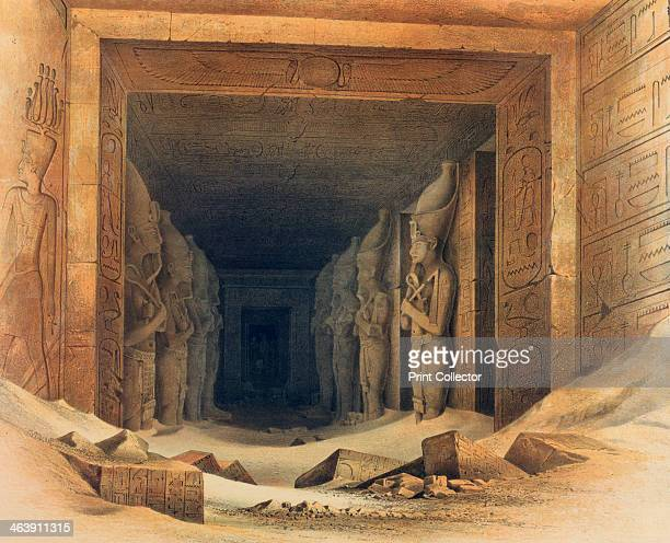 'Interior of the Temple of Abou Simbel' Egypt 18421845 View inside the temple of Abu Simbel built by Rameses II showing some of the colossal statues...