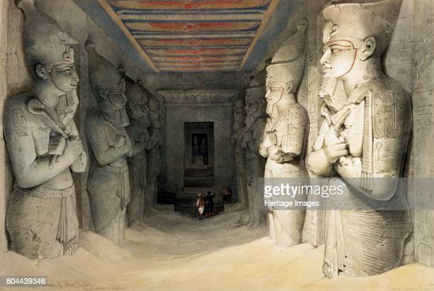 Interior of the Temple of Abu Simbel' Nubia Egypt c1845 Colossal statues inside the Temple of Abu Simbel built during the reign of Rameses II and...