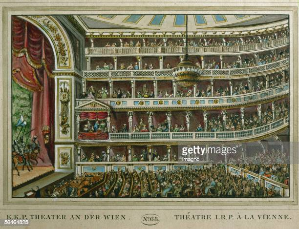 Interior of the 'Theater an der Wien' site of the first performance of Ludwig van Beethoven's only opera 'Fidelio' in 1809 during the French...