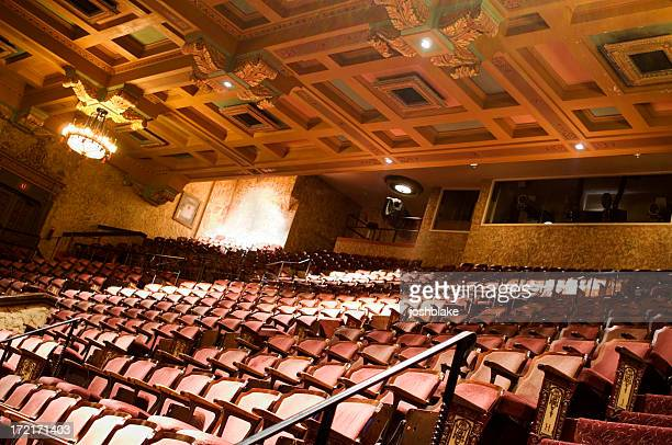 interior of the theater - broadway stock pictures, royalty-free photos & images