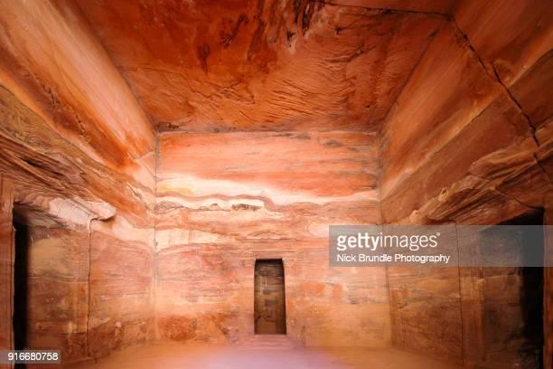 Interior of The Treasury, Petra, Jordan.