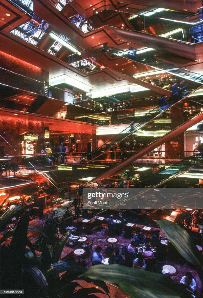 Interior of the Trump Tower on January 10, 1985 in New York, New York.