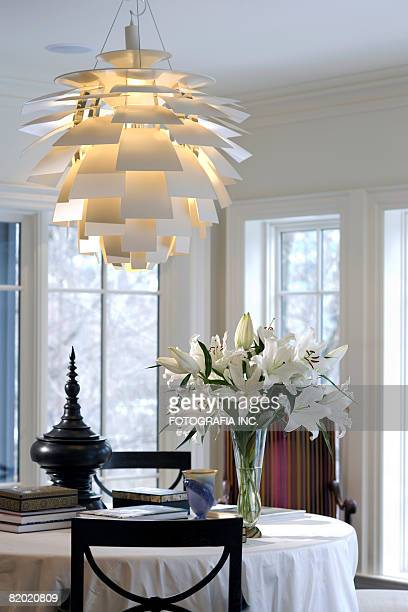 Interior of the upscale residence. Sun room.