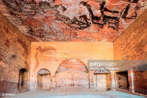 Interior of The Urn Tomb, Petra, Jordan.