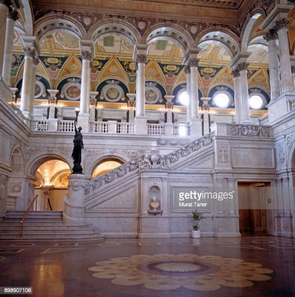 interior of the us library of congress - グレートホール ストックフォトと画像