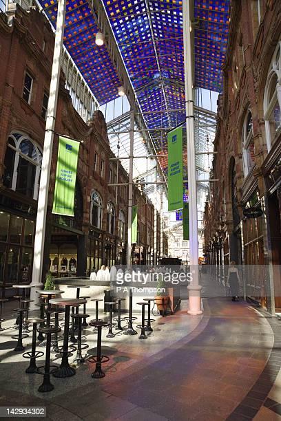 Interior of the Victoria Quarter Shopping Arcade, Leeds, Yorkshire, England