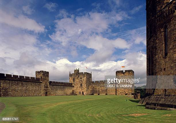 Interior of the walls Alnwick Castle Northumberland England United Kingdom 11th century