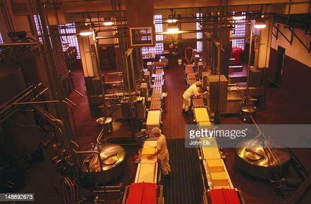 Interior of Tillamook Cheese Factory.