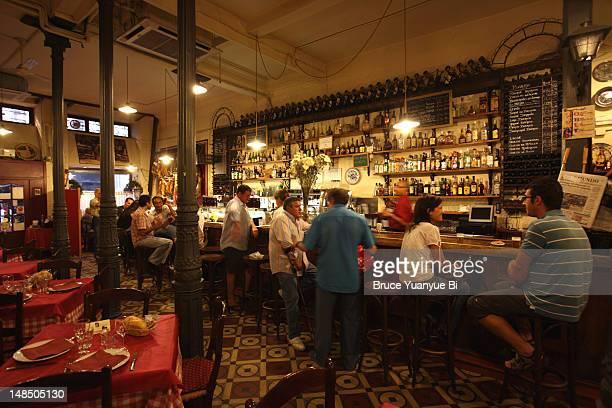 Interior of traditional flamenco show restaurant Casa Patas.