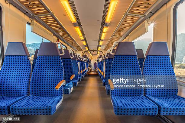 interior of train carriage - vehicle interior stock pictures, royalty-free photos & images
