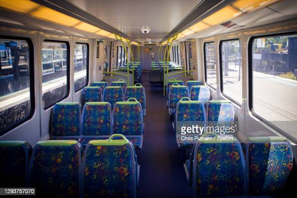 interior of train - chris putnam stock pictures, royalty-free photos & images