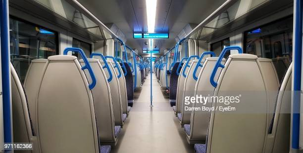 interior of train - train interior stock pictures, royalty-free photos & images