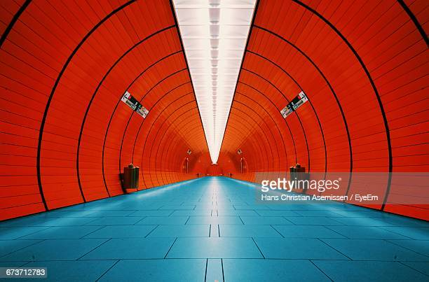 interior of tunnel at munich u-bahn - man made structure stock pictures, royalty-free photos & images
