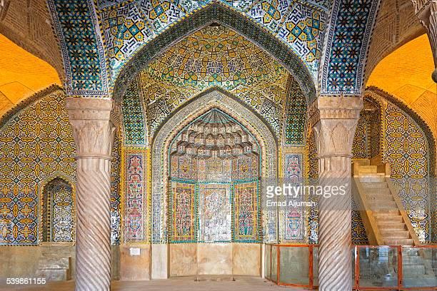 interior of vakil mosque in shiraz, iran - shiraz fotografías e imágenes de stock