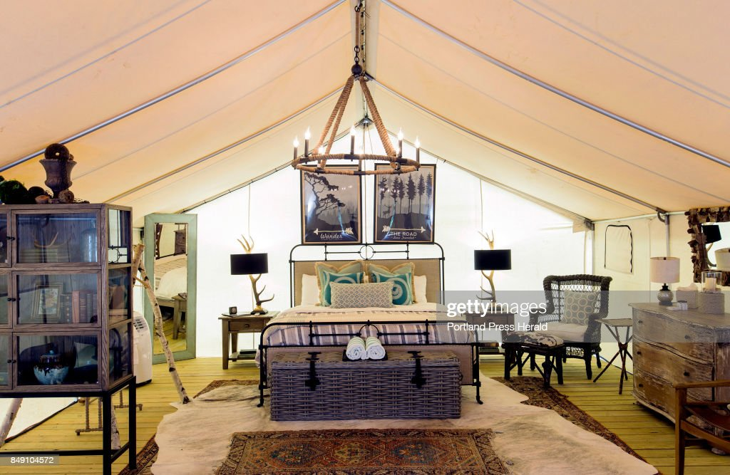 'Glamping' gaining in popularity : News Photo