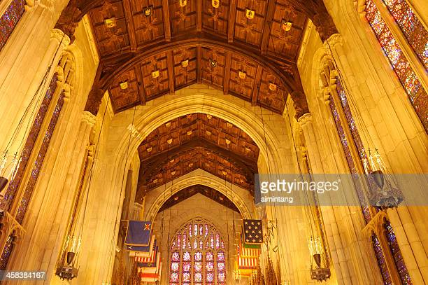 interior of washington memorial chapel - valley forge washington stock pictures, royalty-free photos & images