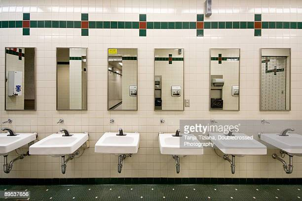 interior of washroom - public restroom stock pictures, royalty-free photos & images