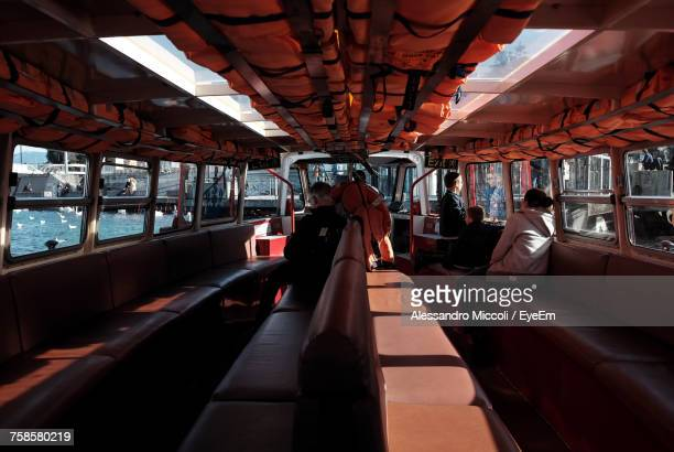 interior of water tram - alessandro miccoli stock photos and pictures