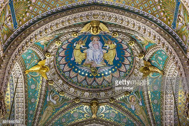 Interior ofThe Basilica of Notre-Dame de Fourviere