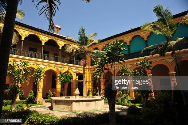 Interior Patio in the Minor Basilica and Maximus Convent of Nuestra Senora del Rosario popularly known as that of Santo Domingo located in the city...